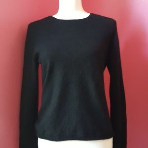 Charter Club Black 2 Ply Cashmere Sweater